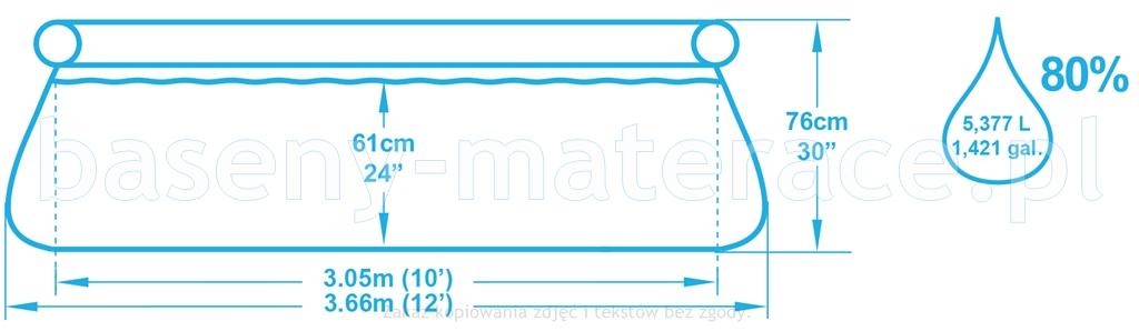 Basen rozporowy Bestway 366 x 76 cm 57274
