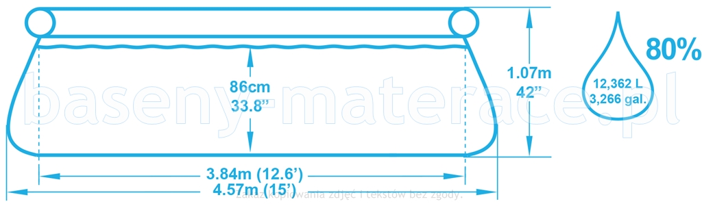 Basen rozporowy Bestway 457 x 107 cm 57127