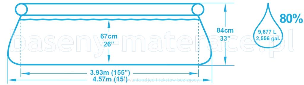 Basen rozporowy Bestway 457 x 84 cm 57316