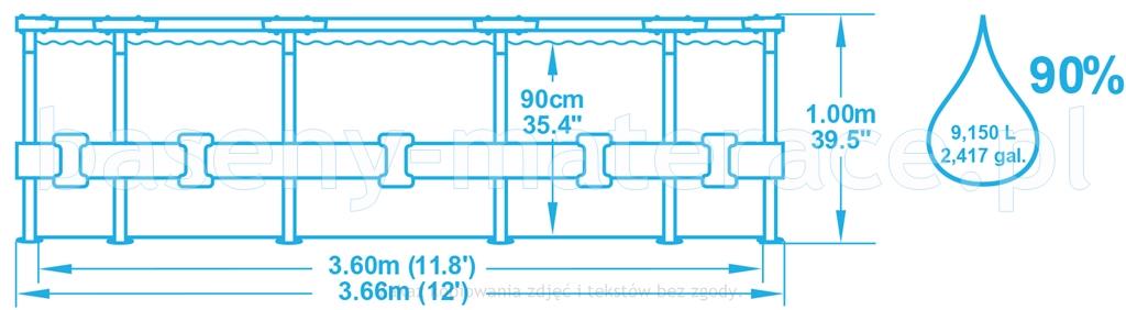 Basem 366x99 cm Intex 26716