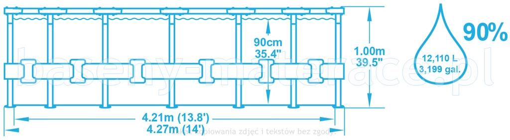 Bestway 427 x 100 cm 56422