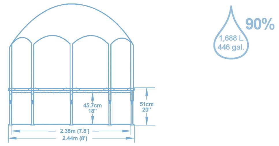 Basen rozporowy Bestway 244 x 51 cm 56432