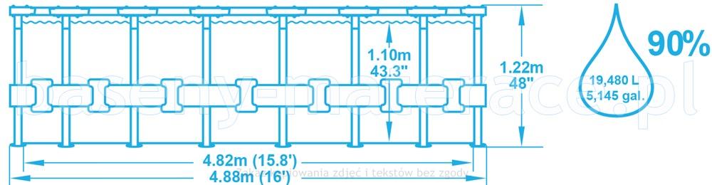 Bestway 488 x 122 cm 56451