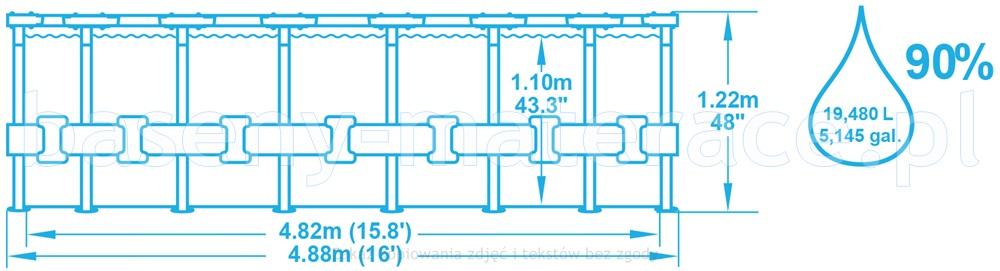 Basen stelażowy Bestway 488 x 122 cm 56666
