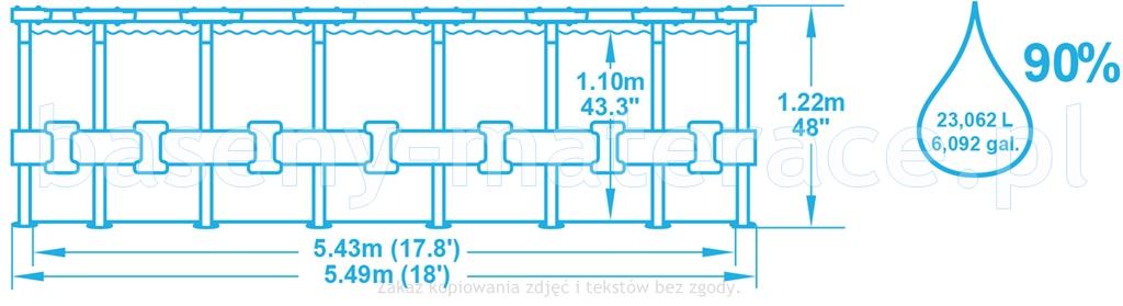 Bestway 549 x 122 cm 56462